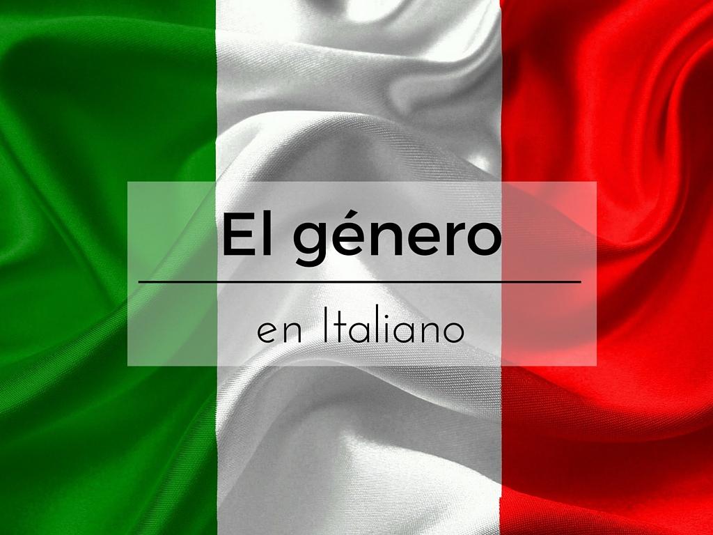 El género en italiano